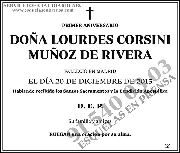 Lourdes Corsini Muñoz de Rivera